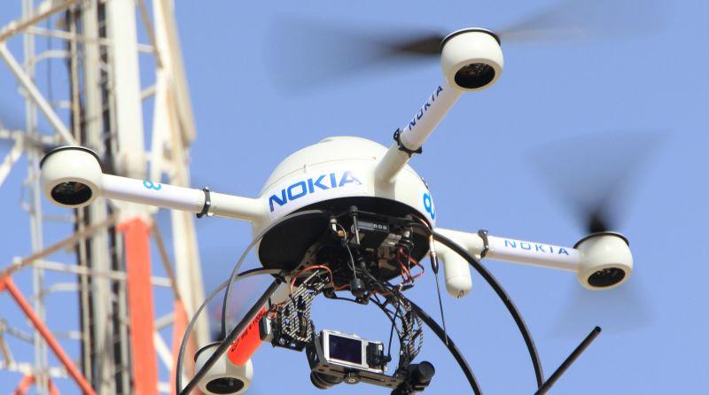 諾基亞(Nokia)早已涉足無人機產業,研製自家無人機,用作檢查和測試電訊設施。