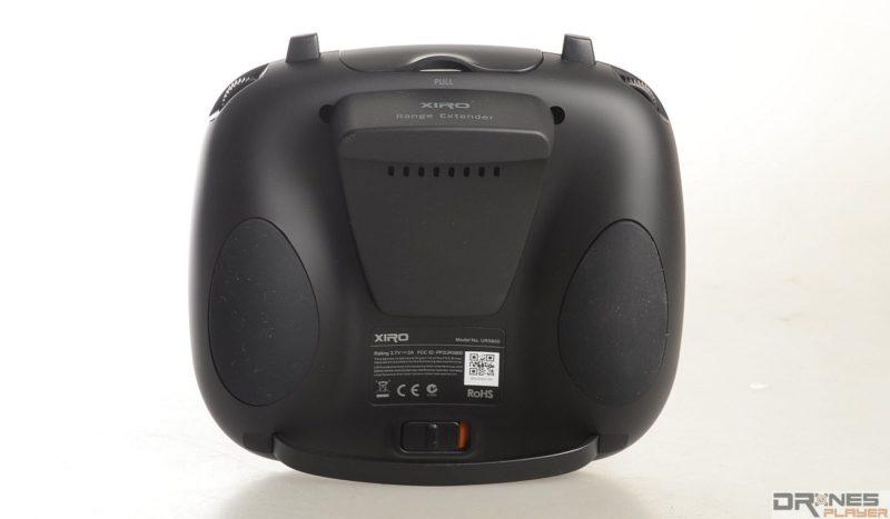 Explorer V 遙控器後方的是中繼器,跟主流產品的外露式設計有所不同。