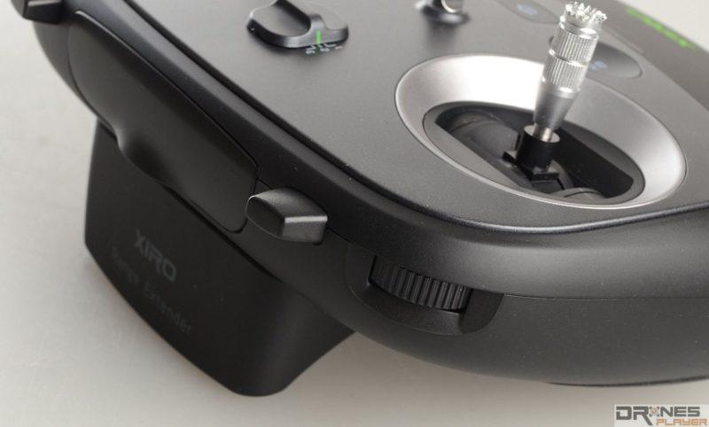 Explorer V 遙控器上側設有鏡頭角度調校撥輪,可惜靈敏度只屬一般。