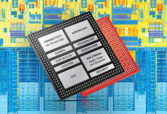 Snapdragon 為系統單晶片(System on Chip),內藏中央處理器、圖像處理器、攝影鏡頭控制器、4G 數據機等,功能包羅盡有。