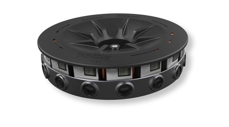 GoPro Odyssey 是由 16 部 GoPro HERO4 組合而成。