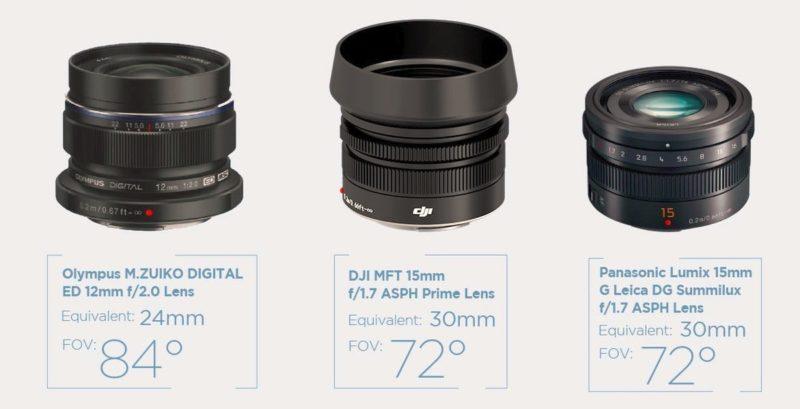 DJI Zenmuse X5 系列暫時支援的鏡頭只有三支,估計日後會有更多 M4/3 鏡頭可供配搭使用,但到時又要考慮雲台的穩定能力了。