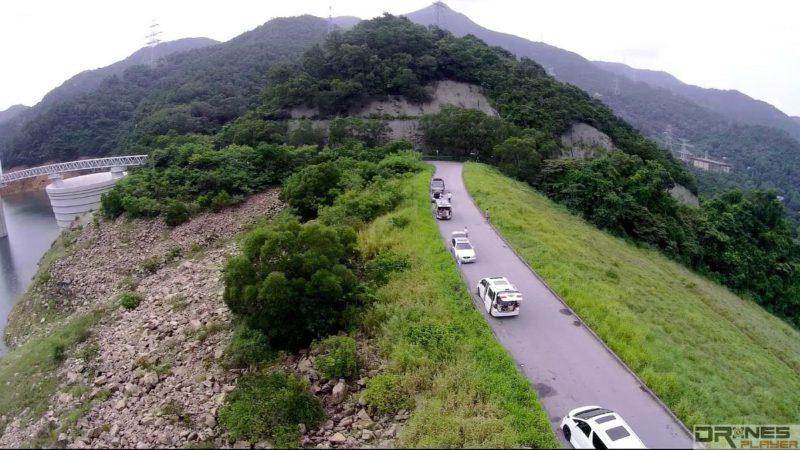 沙田富山下城門水塘堤壩兩旁均是斜坡。