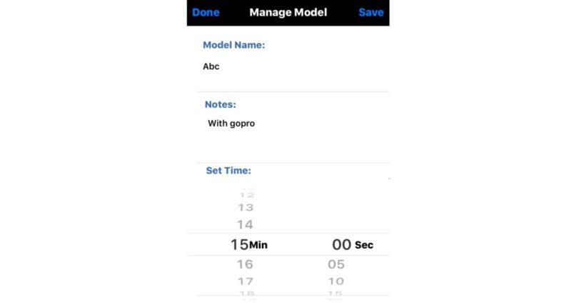 《RCFlyTime Lite》介面希局簡潔易明,航拍玩家輸入基本資料後,便能馬上使用。
