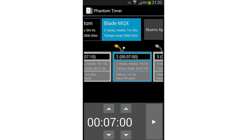 當輸入所有資料後,航拍玩家使用時只需揀選合適的電池,便能快速啟動計時功能。