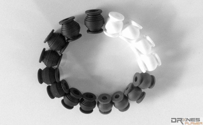市面上有三種減震球可選:白色的最軟、灰色的中等、黑色的最硬。