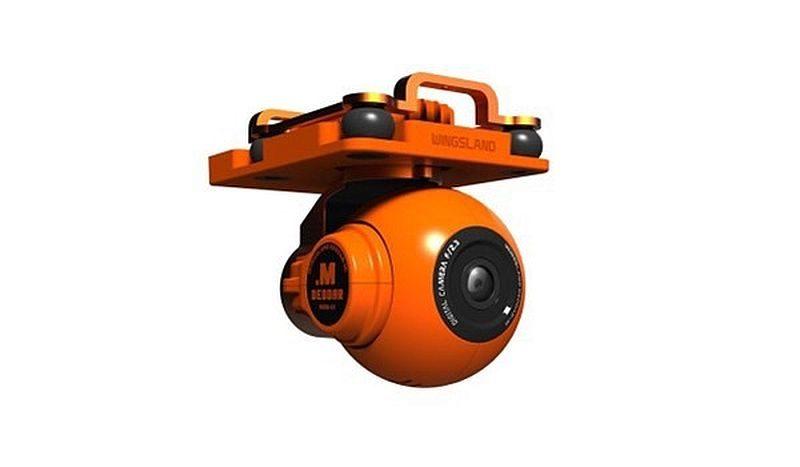 朱雀無人機預載的航拍攝影機採用球形對稱的造型,可避免飛行氣流對航拍鏡頭的干擾。