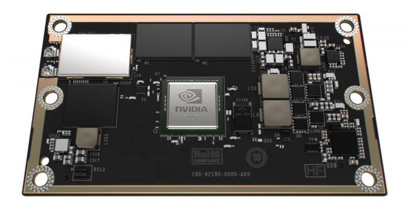 NVIDIA Jetson TX1 模組體積為 50 x 87 毫米