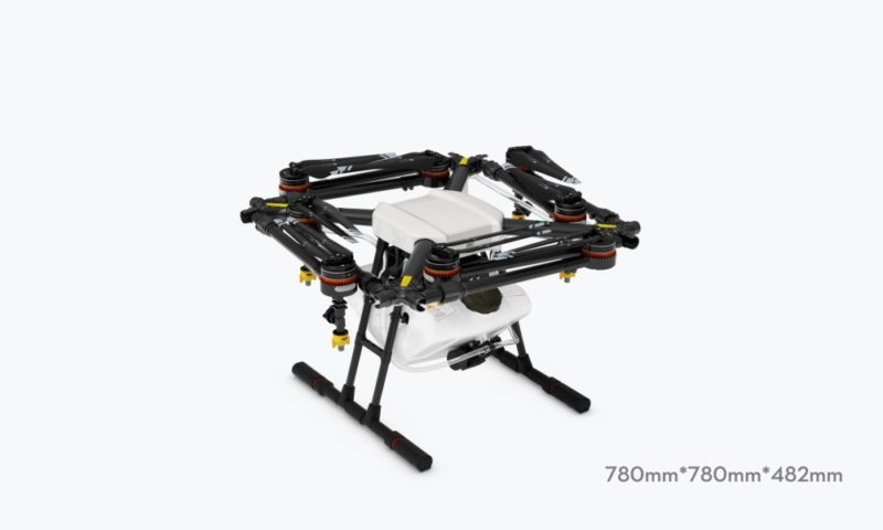 DJI Agras MG-1 的槳軸能夠摺合起來,方便收藏和搬運。