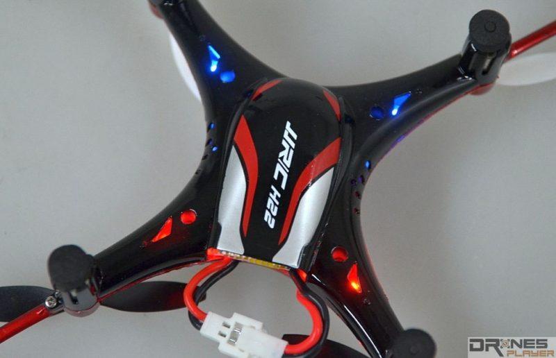 JJRC H22 機身四邊都設有 LED 燈號,方便用家辨認機頭方向。