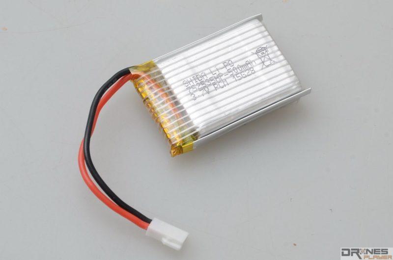 CX-31 使用 3.7V / 500mAh 可換式電池。