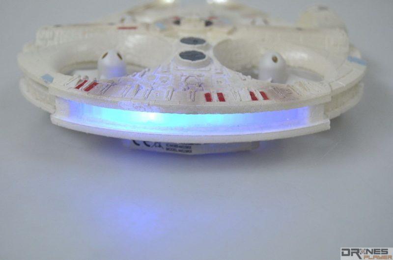 星戰千歲鷹號機尾設一排藍色 LED 燈號。