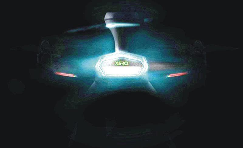 經網民局部調光後的第二代 XIRO Xplorer (零度探索者2代)產品海報,隱約可見外形設計帶點太空飛船的味道。