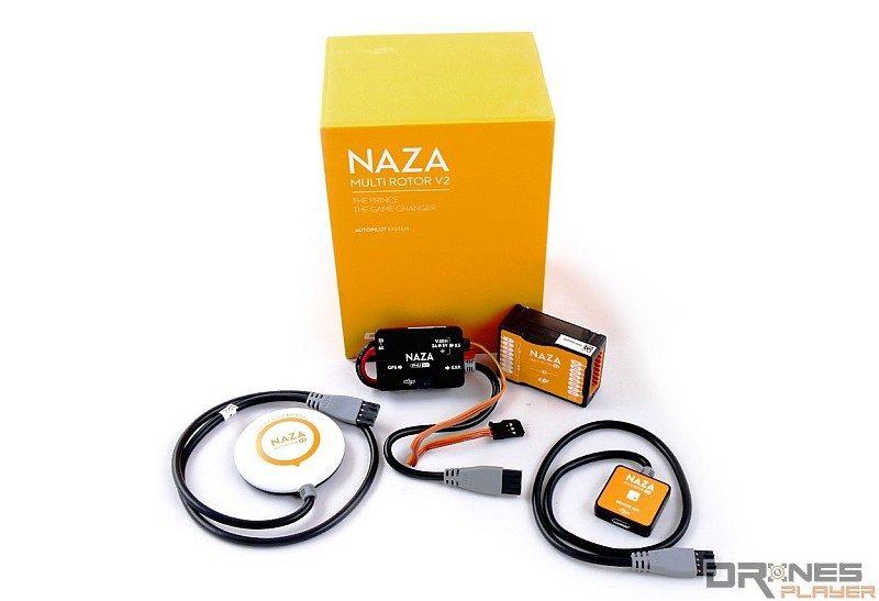 DJI NAZA-M v2 飛控套裝內除飛控外,還包含 GPS 模組。
