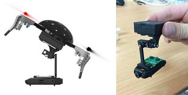 Micro Drone 3.0 可加裝 Micro-Gimbal,提高航拍畫面的穩定性。
