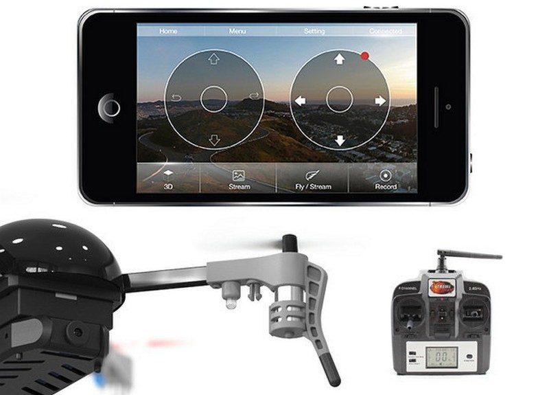 Micro Drone 3.0 可利用智能手機或隨機控制器來進行遙控。
