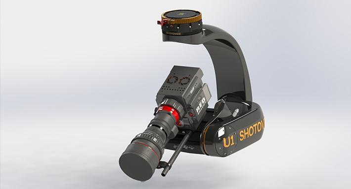 跟機的 Shotover U1g 雲台,可裝配電影級數拍攝器材。