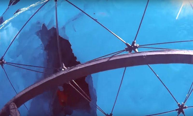 Gimball 內置攝影機從保護罩內所拍攝的畫面。