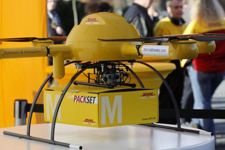 DHL Parcelcopter 送貨無人機最多可負載 2 公斤的貨件。
