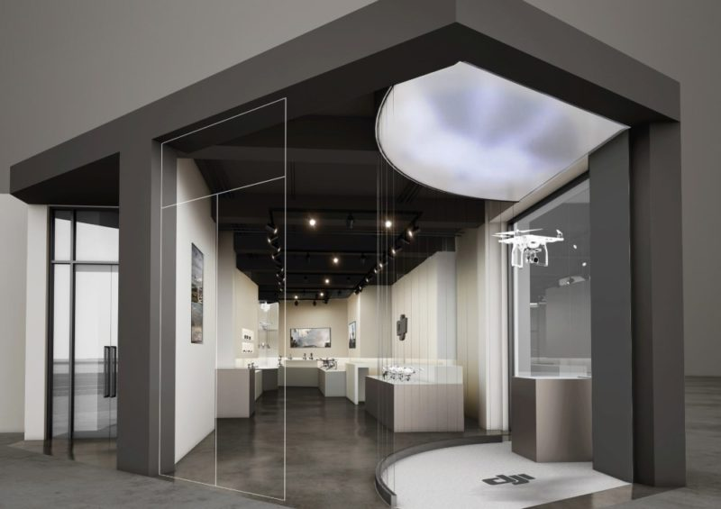 DJI 韓國首爾旗艦店的室內設計偏向簡約風格,驟看有點像是博物館。