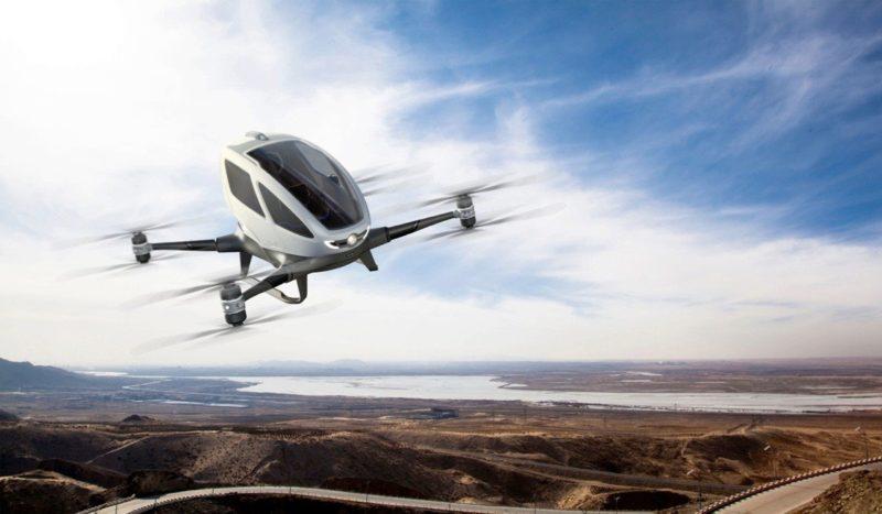 億航 184 帶來載人飛行器傲翔天際的願景。