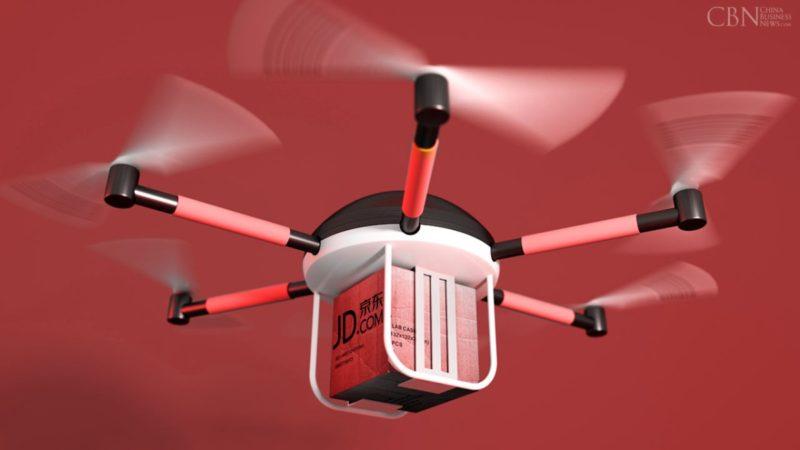 京東送貨無人機的概念圖