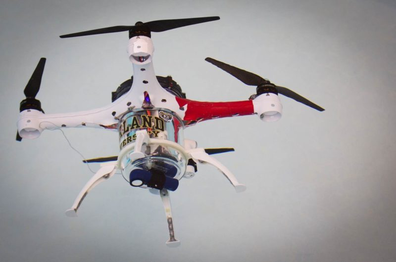 Loon Copter 無人機的機身採用圓筒設計,方便儲水。