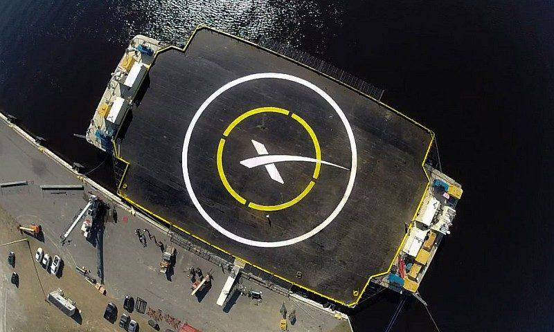SpaceX 用作回收獵鷹 9 號火箭的海上平台。