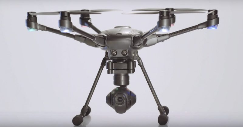 Yuneec Typhoon H的航拍相機可作 360 °全景拍攝。