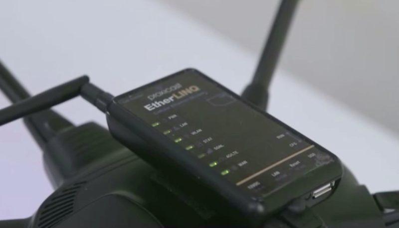 航拍機上裝設了專門的 4G 路由器。