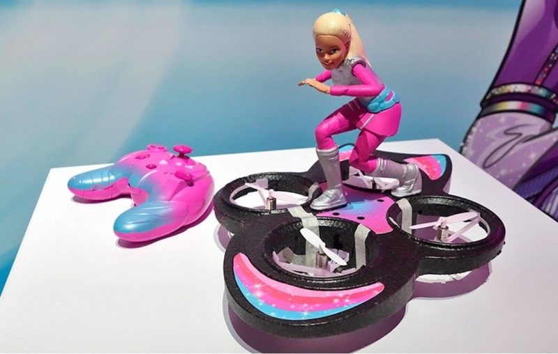 Barbie Star Light Adventure RC Hoverboard 玩具無人機與遙控器