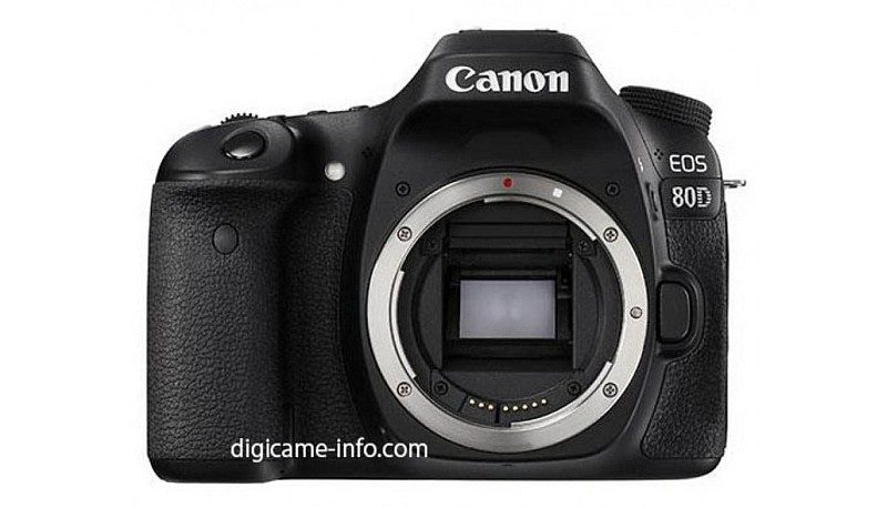Canon 80D 機身外形跟前作 70D 非常接近。(圖片來源:digicame-info.com)