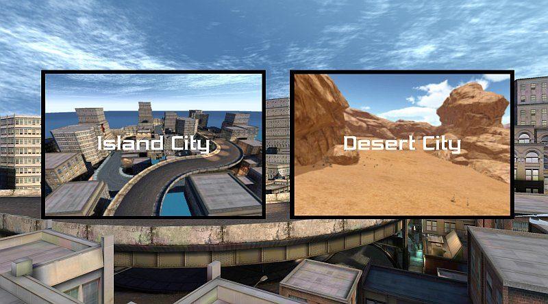 《Free Flight Drone Simulator 3D》預載城市和沙漠兩款地圖,操作難度分別其實不大。