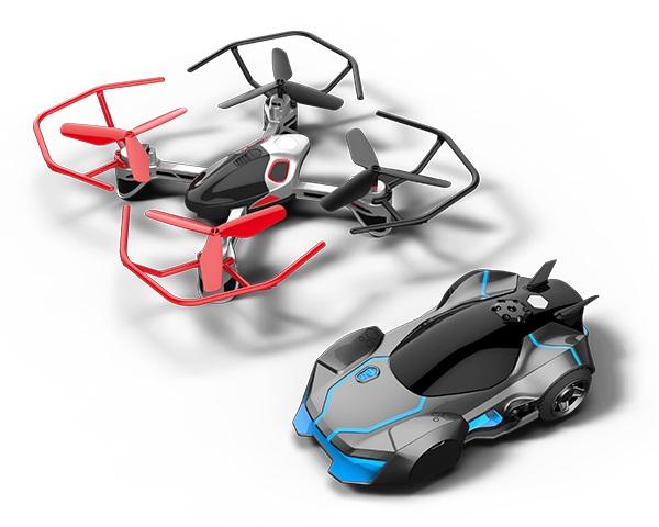 Rev Air 無人機與遙控車,合組成空陸對戰組合。