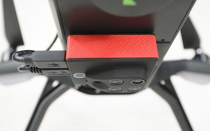 微型多光譜感應器 Sequoia 可安裝於不同款式的民用無人機底部。