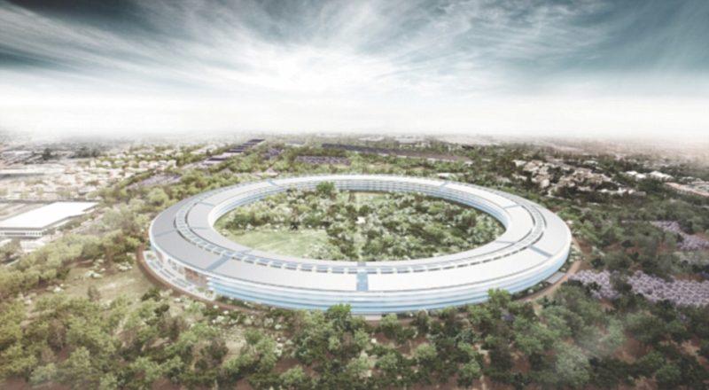 蘋果新總部構想圖。