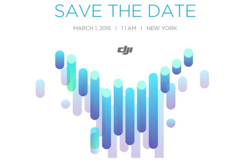 DJI 宣布於 2016 年 3 月 1 日在紐約舉行發布會
