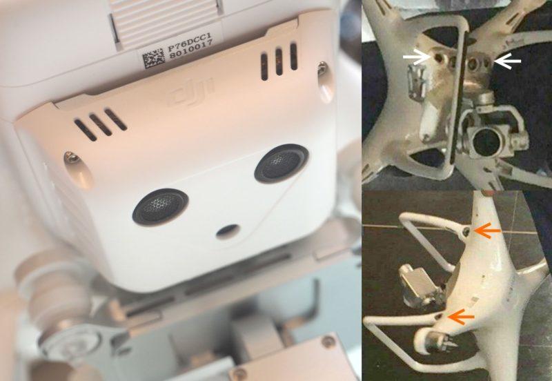 DJI Phantom 3 與疑似 DJI Phantom 4 比較