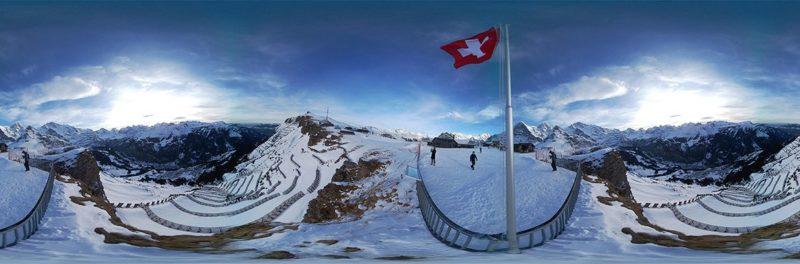 官方提供的 Gear 360 全景拍攝效果試相,可讓人將滑雪場四周的景致一覽無遺。