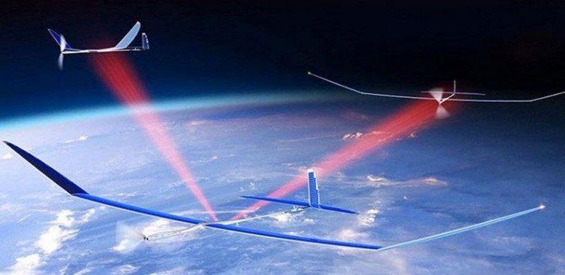 Google Skybender 無人機可於高空收發 5G 訊號,組成高速的流動數據網絡。