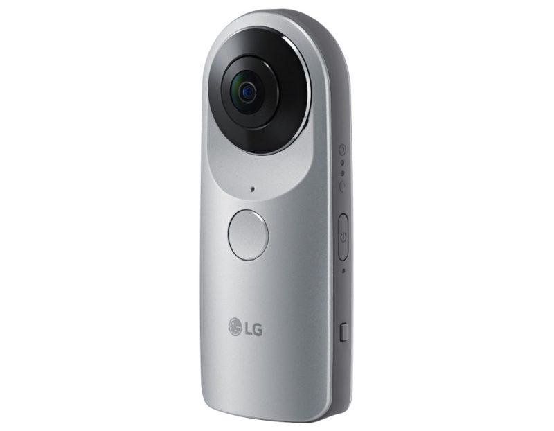 LG 360 CAM 相機內置 2 組 200 度廣角鏡頭,可拍出 360 度全景 2K 影片。