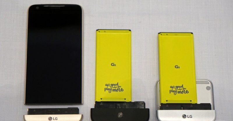 LG G5 機底零件可以拆卸,轉用其他配件。(圖片來源:翻攝自TheVerge.com)