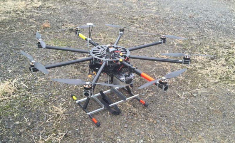 是次宅配採用了軸距 1,111 毫米的 8 軸無人機。
