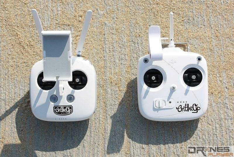 P3 Professional 的遙控器設計跟 Inspire 1 同出一轍,P3 Standard 則較像上代機種 Phantom 2 的。