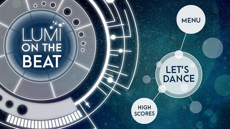 Wowwee Lumi 手機app《Lumi on the Beat》 的介面。