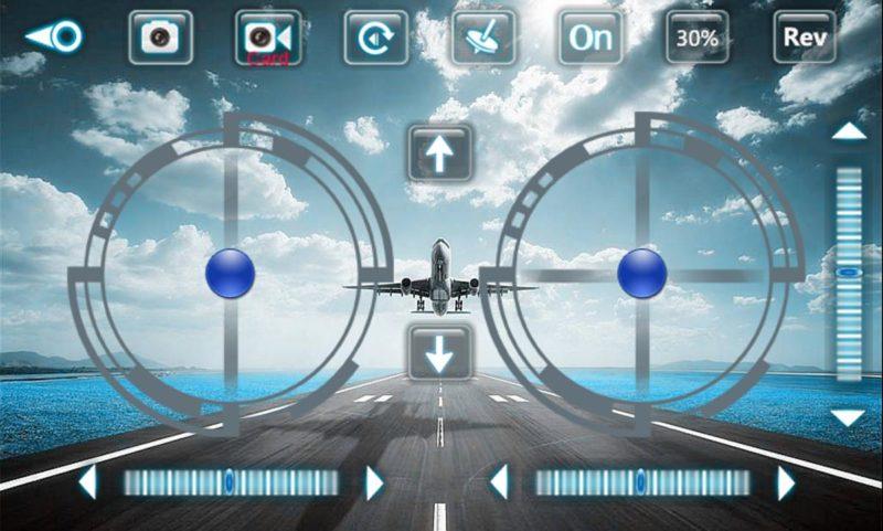 《cx_33wifi》app 內的操控功能,可使用虛擬按鍵或體感來控制 CX-33W。