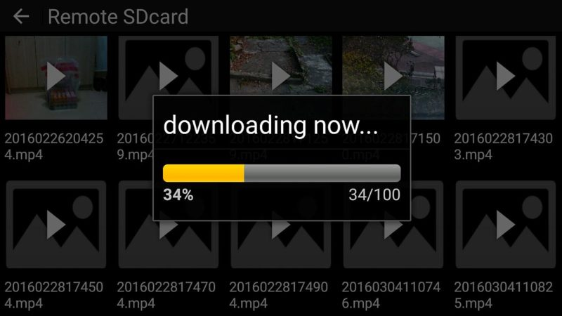 Cheerson CX-33W 經 app 將 SD 卡內的影片傳送至智能裝置。