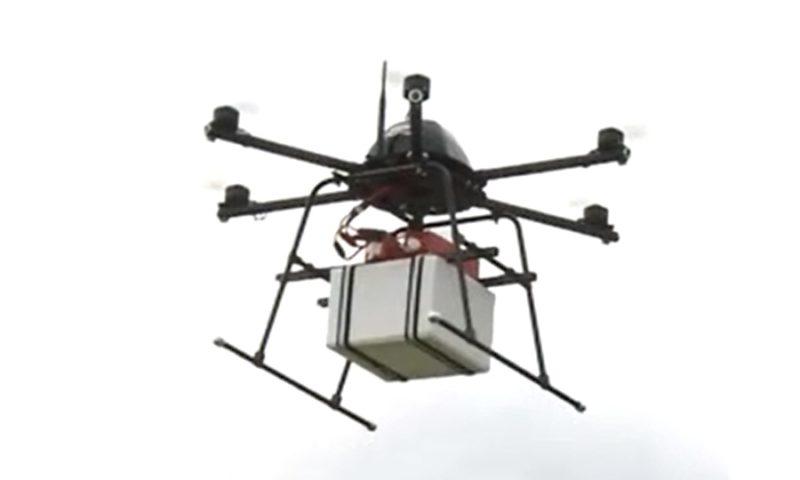 樂天採用 Mini Surveyor 無人機作空中貨運測試。