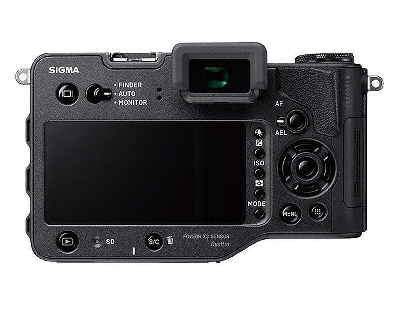 Sigma sd Quattro 無反相機機背的介面布局。