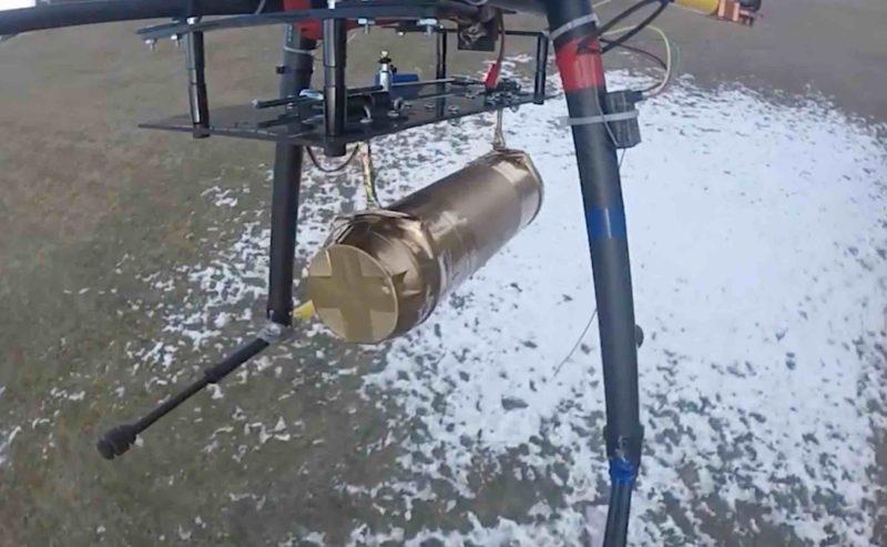 無人機投擲的炮彈有一定份量。